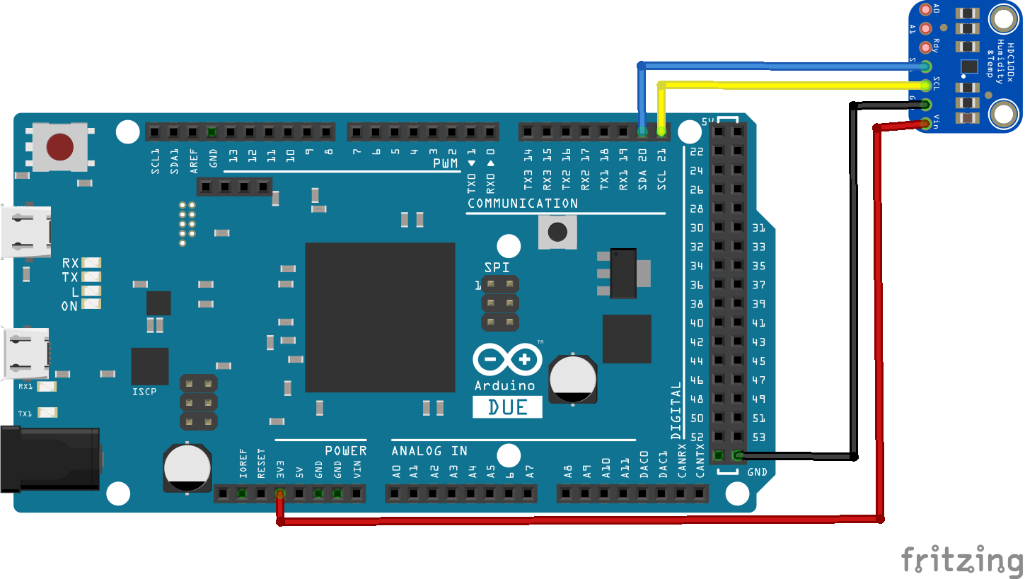 Arduino Due And Hdc1008 Example Arm Learning Lm75 Temperature Sensor Schematic