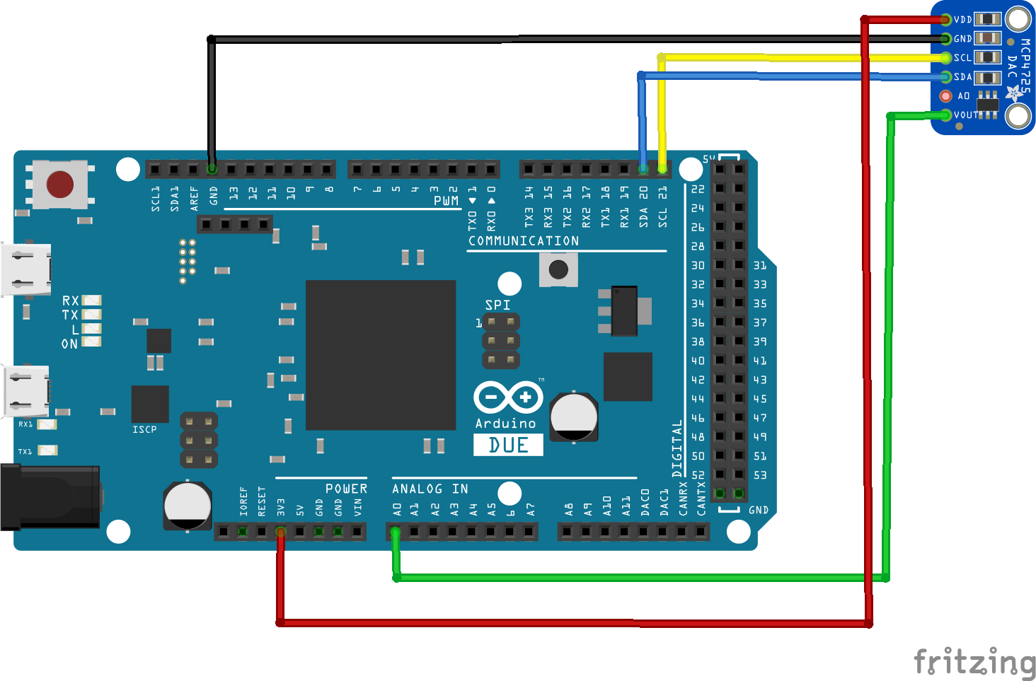 arduino due and mcp4725