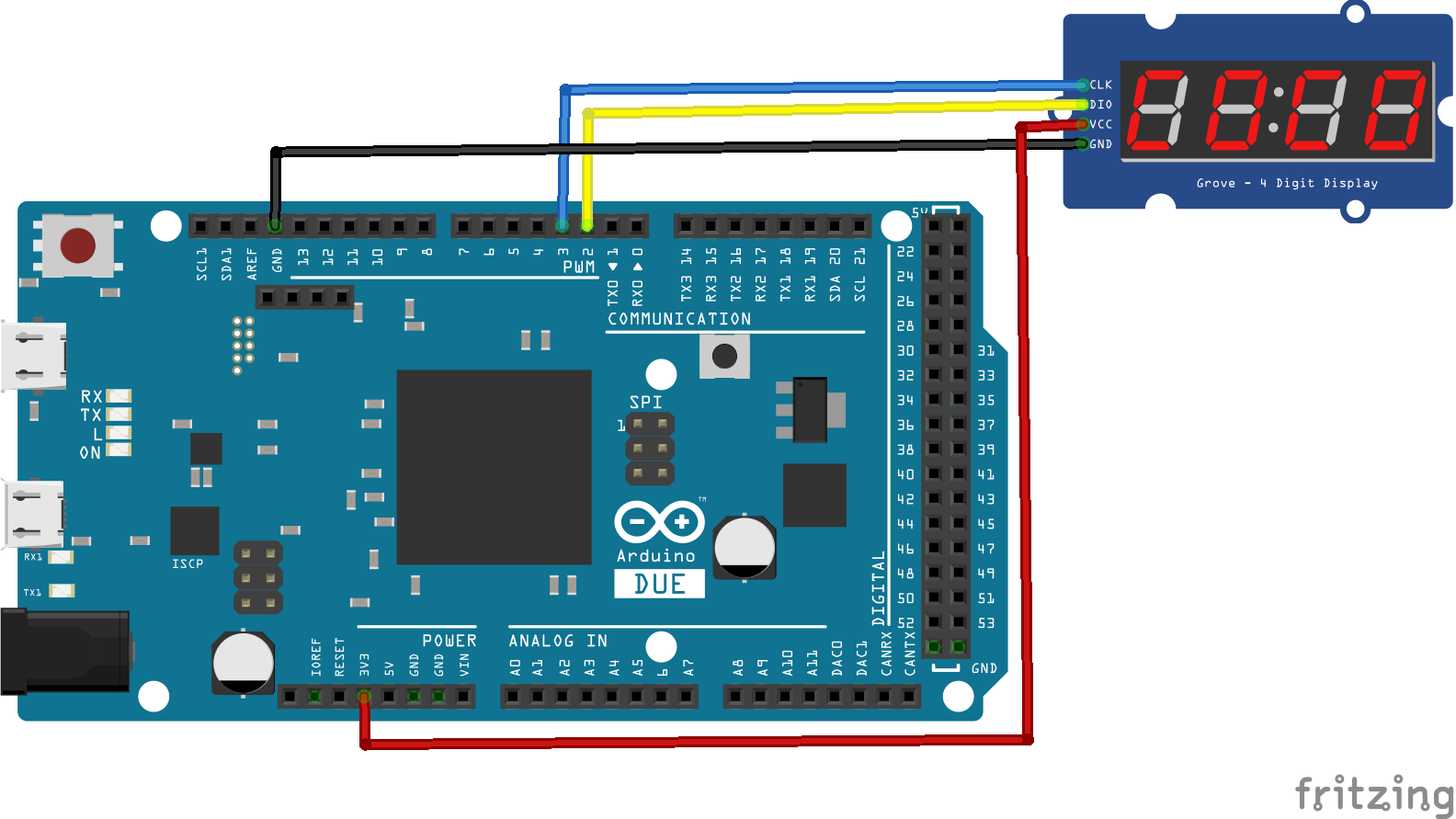 arduino due and TM1637