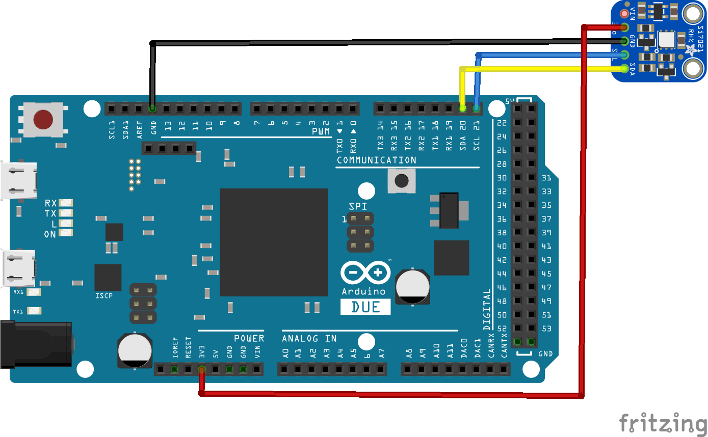 Arduino Due and Si7021 temperature sensor example - ARM Learning