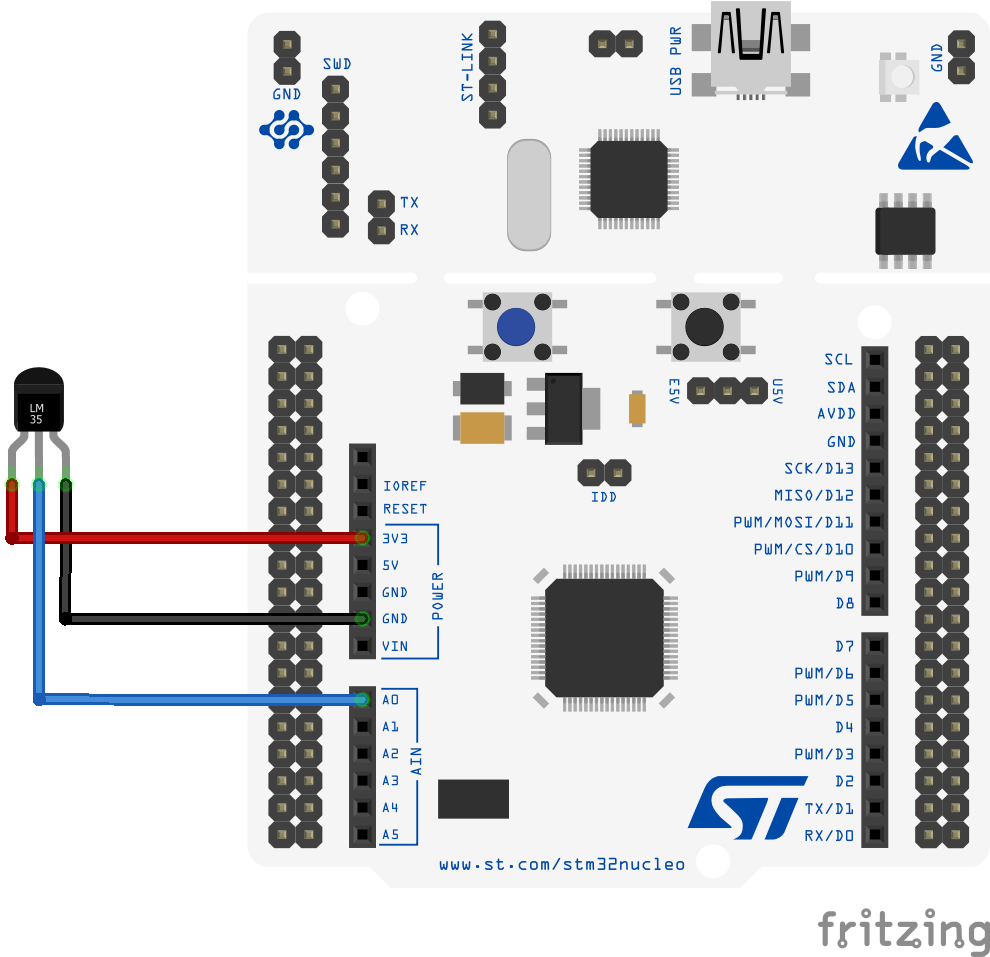 STM32 Nucleo and LM35 temperature sensor - ARM Learning