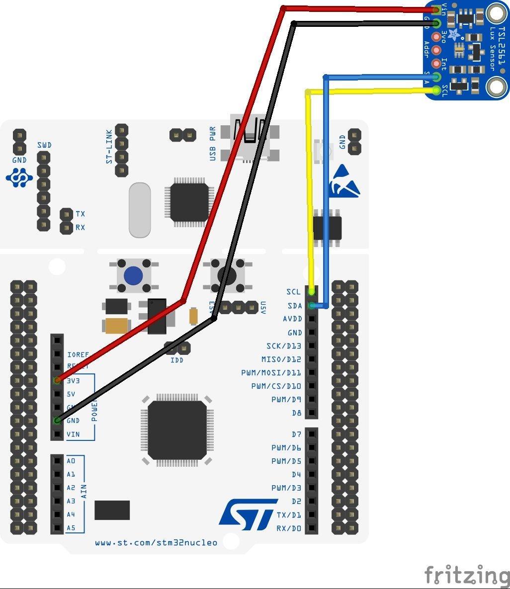 STM32 Nucleo and TSL2561 Luminosity Sensor example - ARM Learning