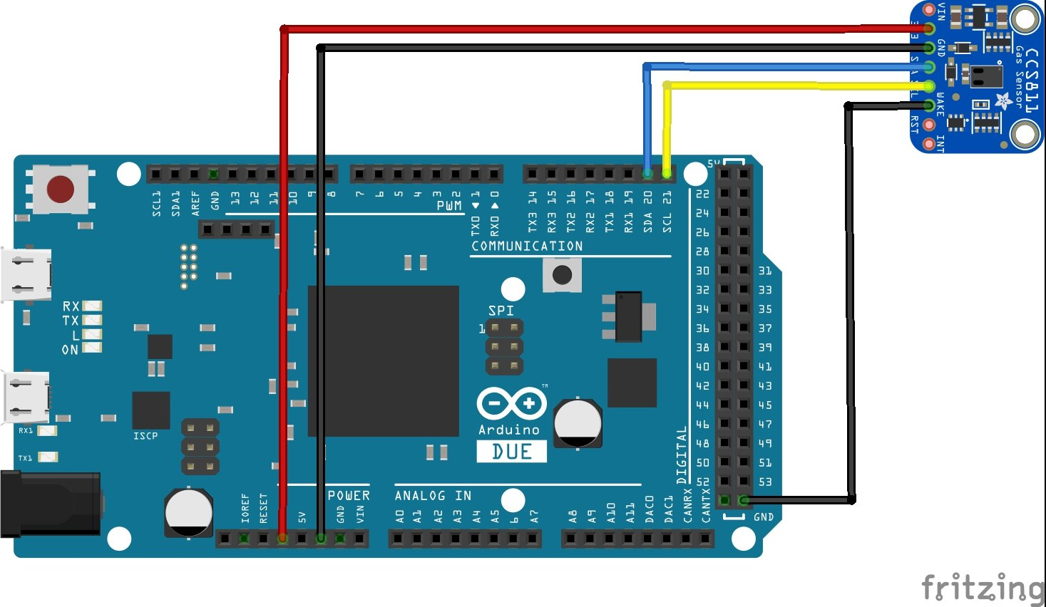 arduino due and CCS811 layout