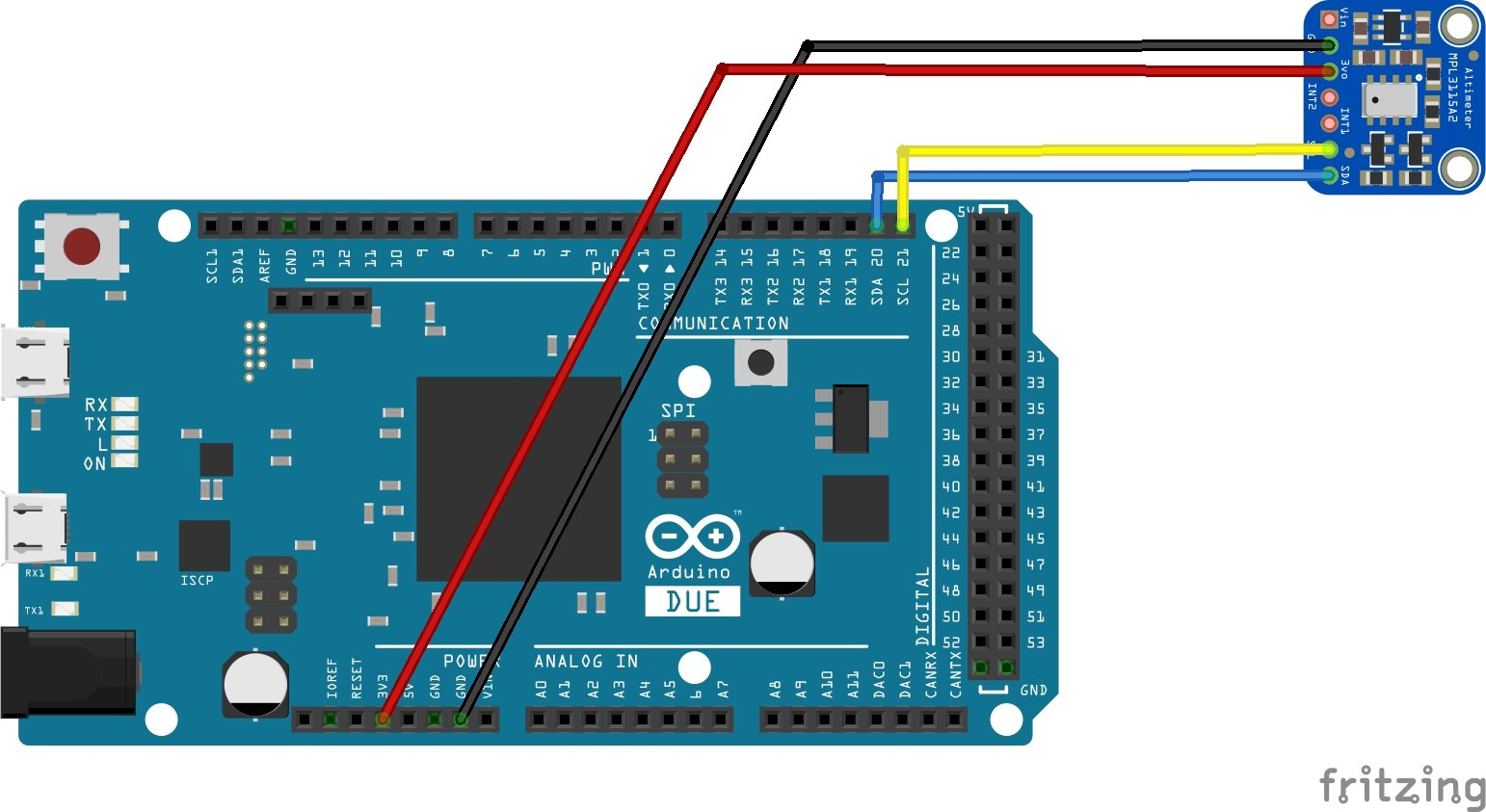 arduino due and mpl3115a2